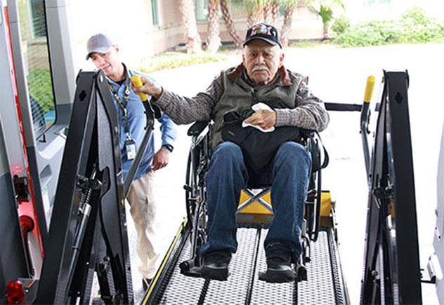 customized wheelchair van for veteran